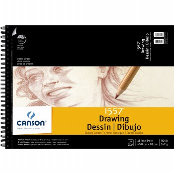 Canson Drawing Pads, Cream, 18 in. x 24 in. - 24 Shts./Pad