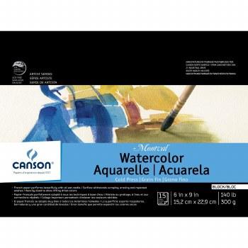 Canson Montval Watercolor Blocks, 6 in. x 9 in.