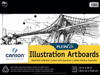 Canson Plein Air Illustration Artboard Pads, 12 in. x 16 in. - 10 Shts./Pad