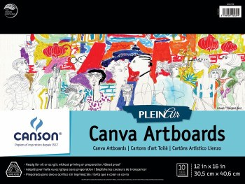 Canson Plein Air Canva Artboard Pads, 12 in. x 16 in. - 10 Shts./Pad