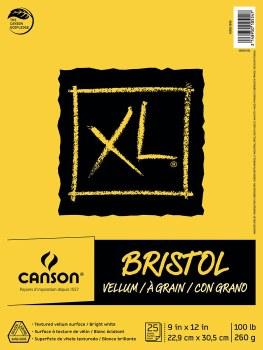 Canson XL Bristol Pads, Vellum, 9 in. x 12 in.