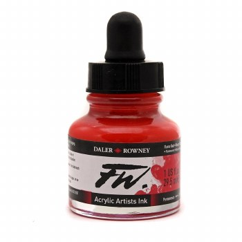 FW Acrylic Artists Ink, Flame Red