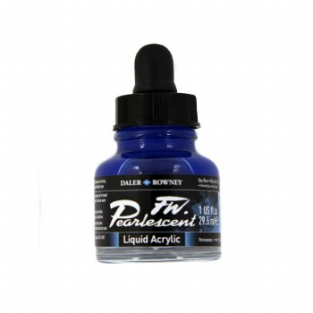 FW Pearlescent Liquid Acrylics, Sky Blue