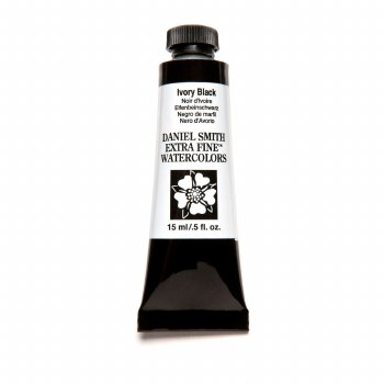Extra-Fine Watercolors, 15ml Tubes, Ivory Black