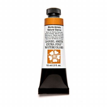 Extra-Fine Watercolors, 15ml Tubes, Monte Amiata Natural Sienna