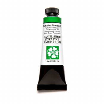 Extra-Fine Watercolors, 15ml Tubes, Permanent Green Light
