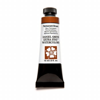 Extra-Fine Watercolors, 15ml Tubes, Permanent Brown