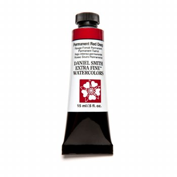 Extra-Fine Watercolors, 15ml Tubes, Permanent Red Deep