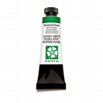 Extra-Fine Watercolors, 15ml Tubes, Permanent Green