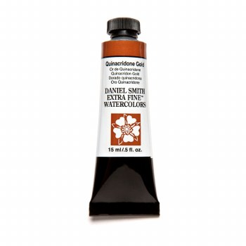 Extra-Fine Watercolors, 15ml Tubes, Quinacridone Gold