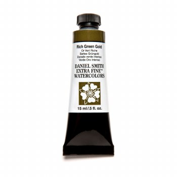 Extra-Fine Watercolors, 15ml Tubes, Rich Green Gold