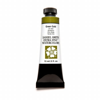 Extra-Fine Watercolors, 15ml Tubes, Green Gold