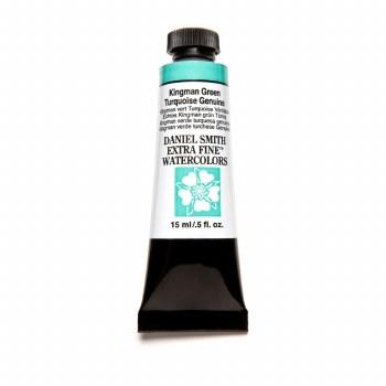 Extra-Fine Watercolors, 15ml Tubes, Kingman Green Turquoise Genuine - PrimaTek