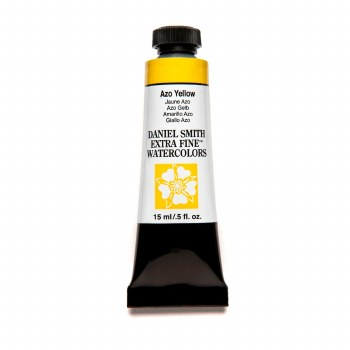 Extra-Fine Watercolors, 15ml Tubes, Azo Yellow