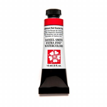 Extra-Fine Watercolors, 15ml Tubes, Cadmium Red Scarlet Hue