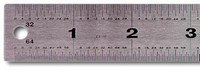 Stainless Steel Ruler, Foam-Back, 24""