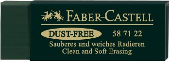 Dust Free Art Eraser, Green Synthetic