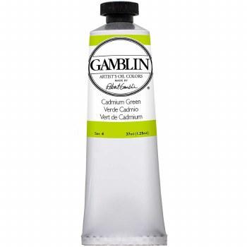Gamblin Oil Colors, 37ml, Cadmium Green