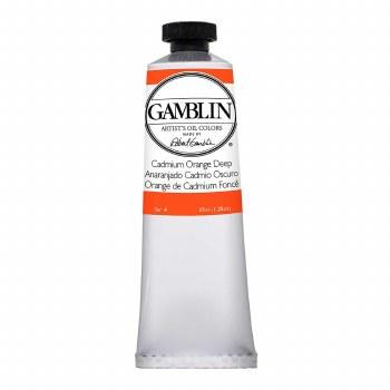 Gamblin Oil Colors, 37ml, Cadmium Orange Deep