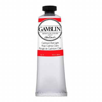 Gamblin Oil Colors, 37ml, Cadmium Red Light