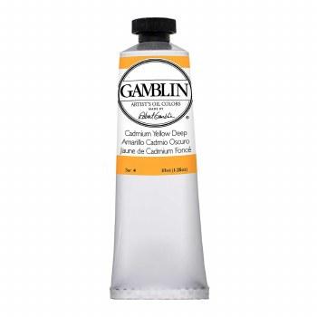 Gamblin Oil Colors, 37ml, Cadmium Yellow Deep