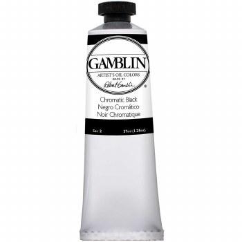 Gamblin Oil Colors, 37ml, Chromatic Black