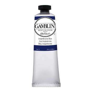 Gamblin Oil Colors, 37ml, Indathrone Blue
