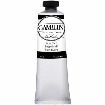 Gamblin Oil Colors, 37ml, Ivory Black