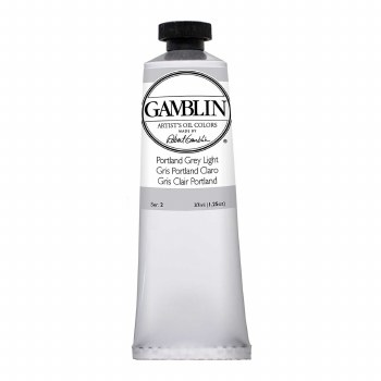 Gamblin Oil Colors, 37ml, Portland Grey Light