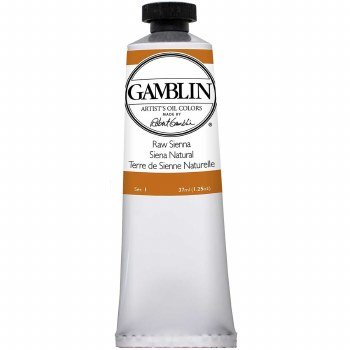 Gamblin Oil Colors, 37ml, Raw Sienna