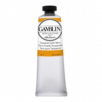 Gamblin Oil Colors, 37ml, Transparent Earth Yellow