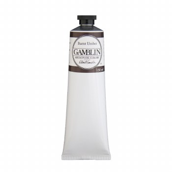 Gamblin Oil Colors, 150ml, Burnt Umber