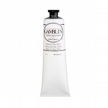 Gamblin Oil Colors, 150ml, Titanium Zinc White