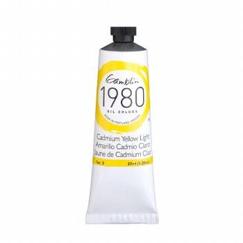 Gamblin 1980 Oil Colors, 37ml, Cadmium Yellow Light