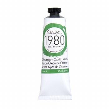 Gamblin 1980 Oil Colors, 37ml, Chromium Oxide Green