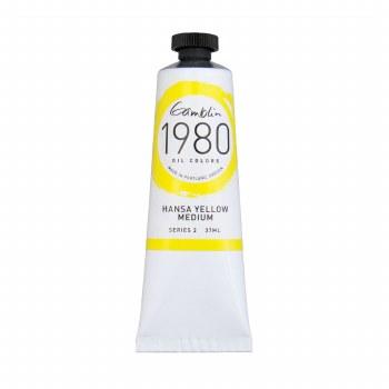 Gamblin 1980 Oil Colors, 37ml, Hansa Yellow Medium