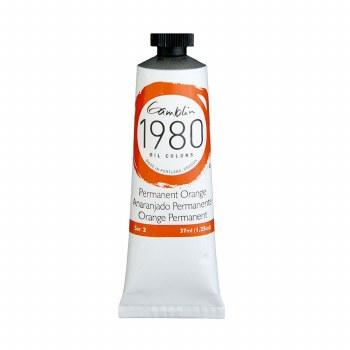 Gamblin 1980 Oil Colors, 37ml, Permanent Orange