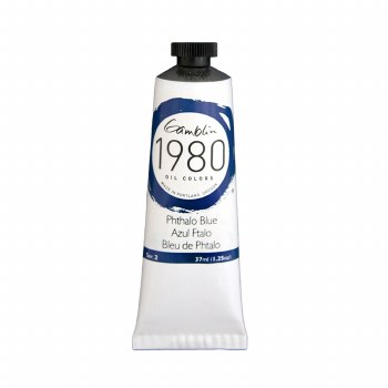 Gamblin 1980 Oil Colors, 37ml, Pthalo Blue