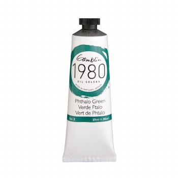 Gamblin 1980 Oil Colors, 37ml, Pthalo Green