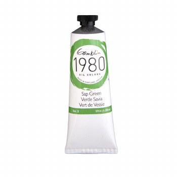 Gamblin 1980 Oil Colors, 37ml, Sap Green