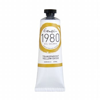 Gamblin 1980 Oil Colors, 37ml, Transparent Yellow Oxide