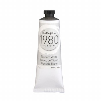 Gamblin 1980 Oil Colors, 37ml, Titanium White
