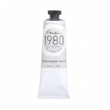 Gamblin 1980 Oil Colors, 37ml, Transparent White