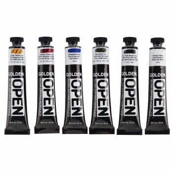 OPEN Acrylic Traditional Color Set, Six 22 ml Tubes