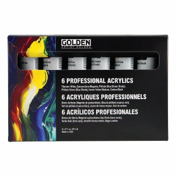 Principal Professional Heavy-Body Acrylic Set, Six 2 oz. Tubes