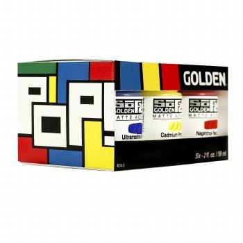 Golden SoFlat Matte Acrylic Sets - POP