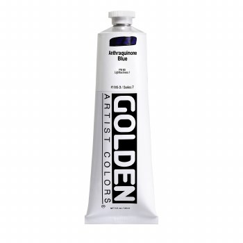Golden Heavy Body Acrylics, 5 oz, Anthraquinone Blue