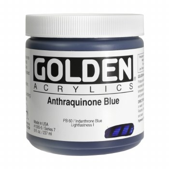 Golden Heavy Body Acrylics, 8 oz Jars, Anthraquinone Blue