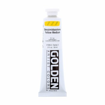 Golden Heavy Body Acrylics, Benzimidazolone Yellow Medium