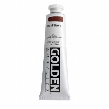 Golden Heavy Body Acrylics, 2 oz, Burnt Sienna